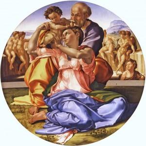 Doni Tondo Painting by Michelangelo Buonarroti