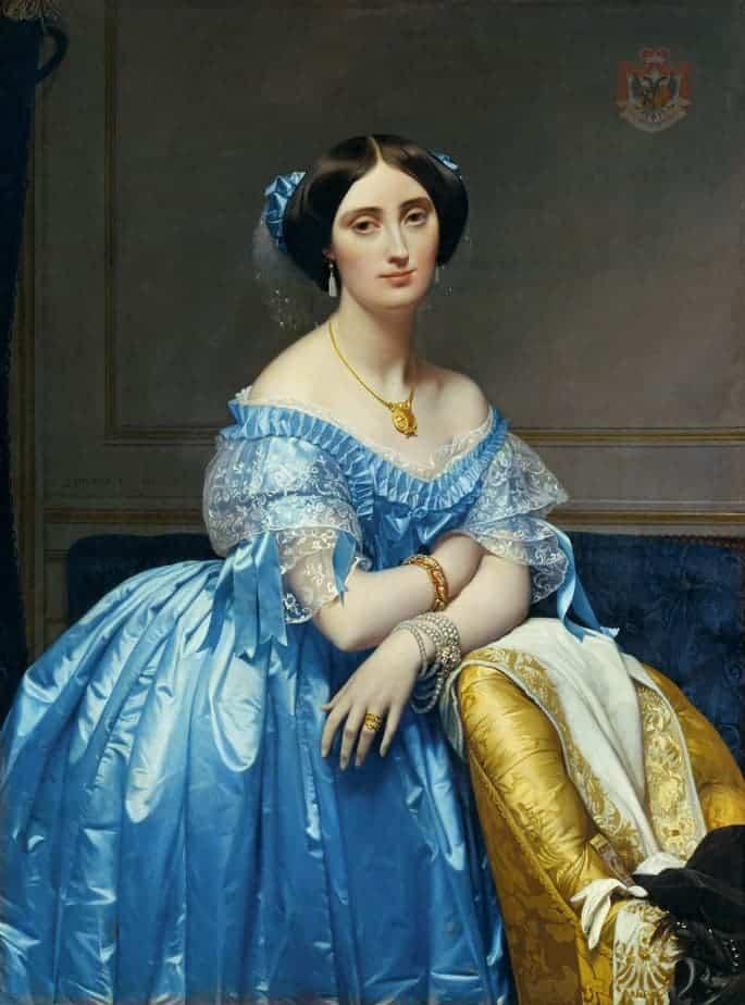 Portrait of Princesse de Broglie Painting by Jean Auguste Dominique Ingres