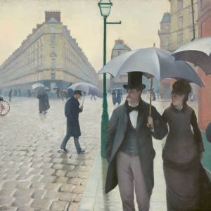 Paris Street Rainy Day Painting by Gustave Caillebotte.