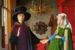 Arnolfini Portrait Painting by Jan van Eyc