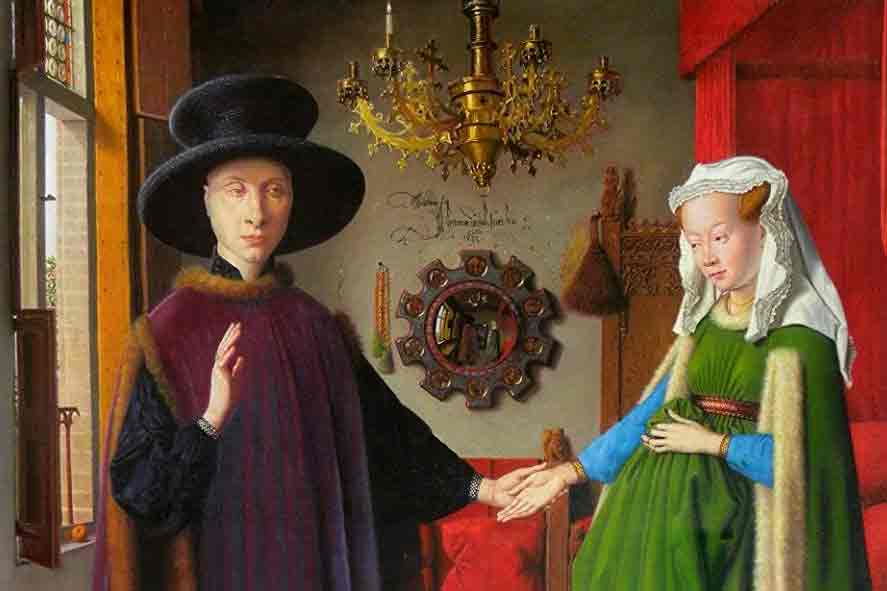 Arnolfini Portrait Painting by Jan van Eyc