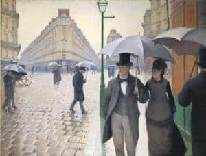 Impressionism art depicted by Paris Street Rainy Day - Famous Impressionist Painting