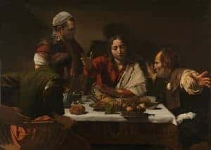 Supper at Emmausby Caravaggio