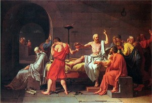The Death of Socrates by Jacques Louis David