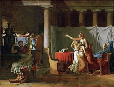 The Lictors Bring to Brutus the Bodies of His Sons byJacques Louis David