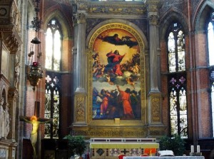 Famous Renaissance painting Assumption of Virgin by Titian