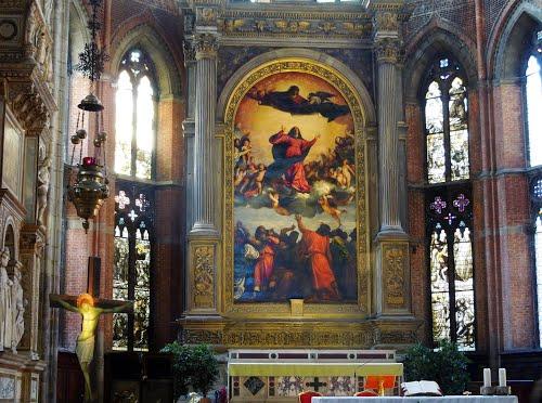 Famous Renaissance painting Assumption of Virgin by Titian
