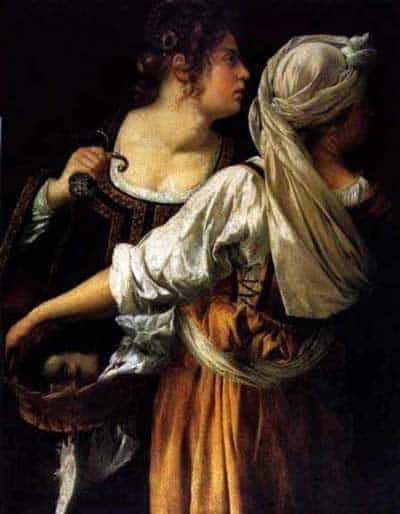 Judith and her Maidservant by Artemisia Gentileschi