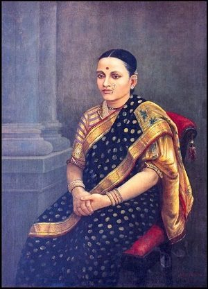 The Portrait of a Lady by Raja Ravi Varma
