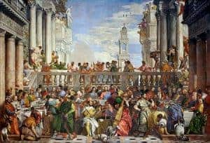 Famous Renaissance painting The Wedding at Cana by Paolo Veronese
