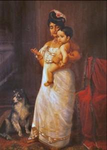 There Comes Papa by Raja Ravi Varma