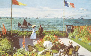 Garden at Sainte-Adresse by Claude Monet