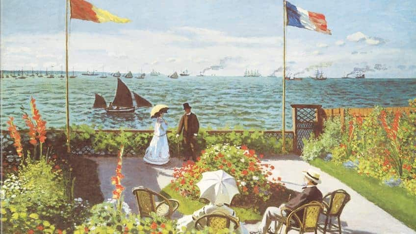 Garden at Sainte-Adresse by Claude Monet