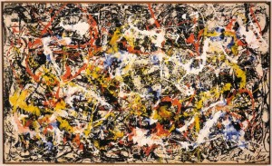 Abstract artwork produced by Jackson Pollock in 1952