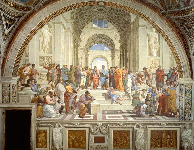 Raphael paints his masterpiece the school of athens