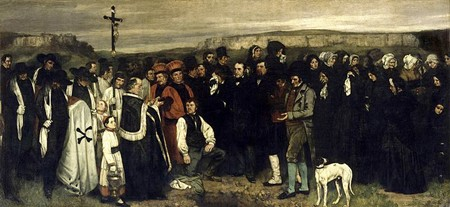A Burial At Ornans, Gustave Courbet: