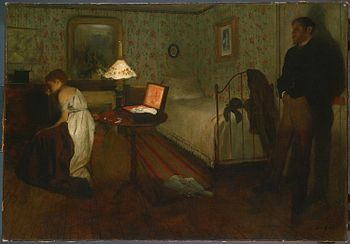 Interior by Edgar Degas