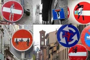 Clet Abraham-Street Art-Signs-France-Paris-Florence-Italy Art-Lover's Guide to Florence