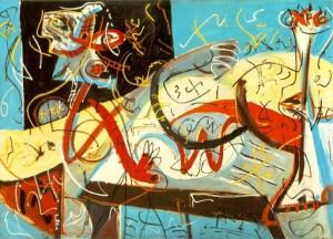 Stenographic Figure by Jackson Pollock