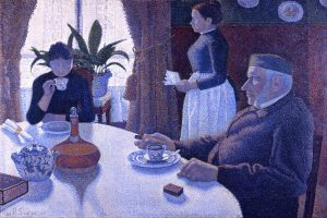 Breakfast a famous painting by Famous Paul Signac