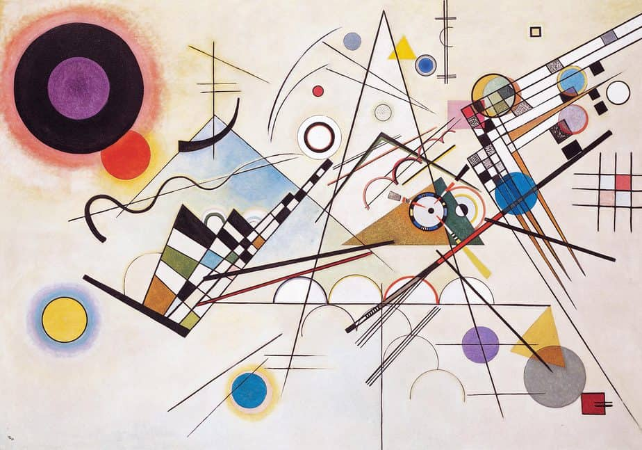 Composition 8 Famous artwork by Wassily Kandinsky
