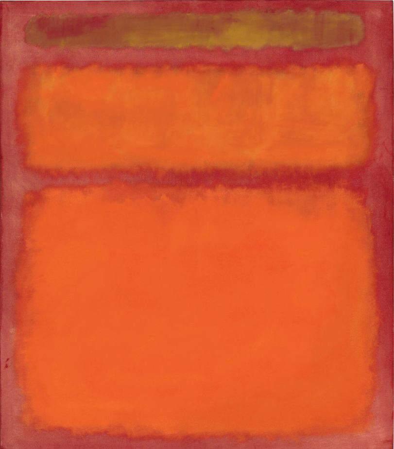 Orange, Red, and Yellow By Mark Rothko