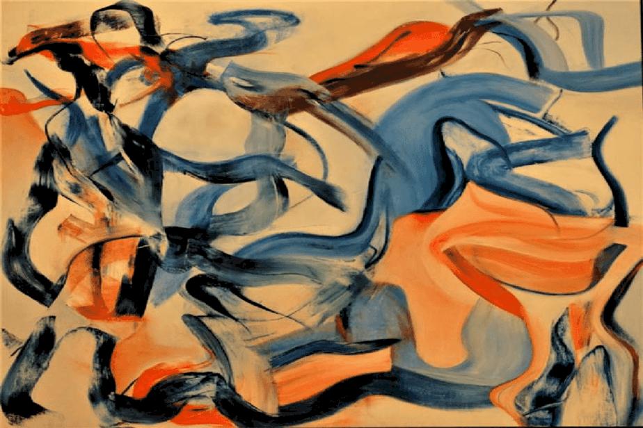 Willem de Kooning Painting Untitled XXI