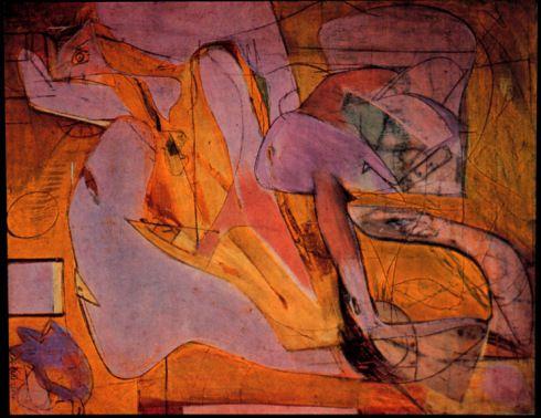pink angels famous artwork by willem de Kooning