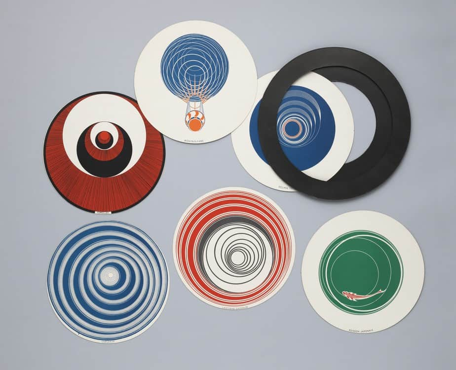 Rotoreliefs famous artwork by Marcel Duchamp
