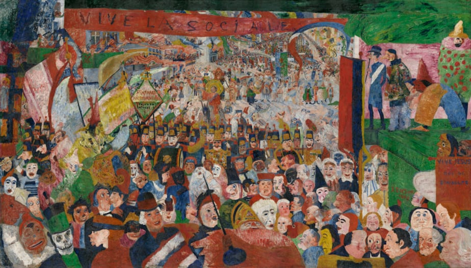 Christ's Entry into Brussels (1889) by James Ensor
