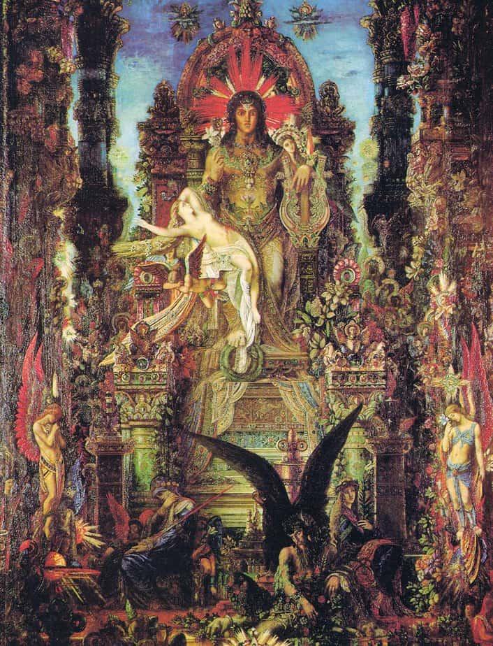 Jupiter and Semele – Gustave Moreau Symbolic artwork