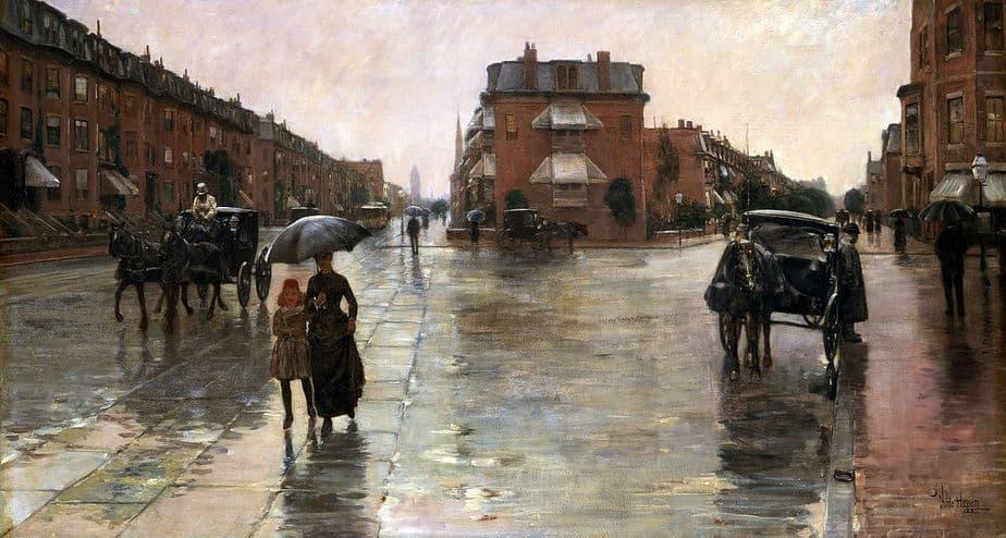 Rainy Day, Boston (1885) by Childe Hassam