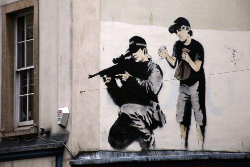 famous Banksy artwork