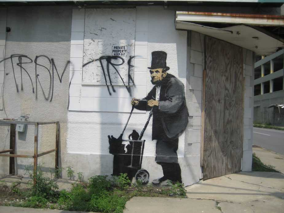 Abraham Lincoln – New Orleans Iconic Works of Banksy