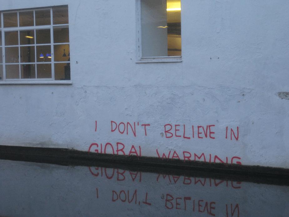 I do not believe in Global Warming – London
