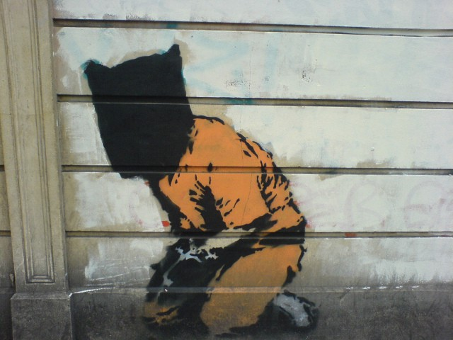 Guantanamo Bay Detainee – London famous Banksy painting