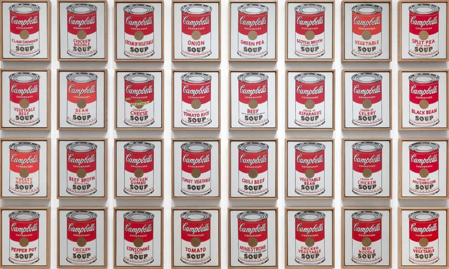 32 Campbell's Soup Cans (1962) by Andy Warhol