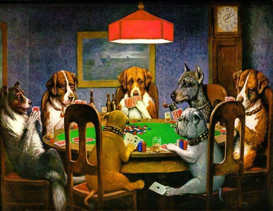 Poker Game (1894) by Cassius Coolidge