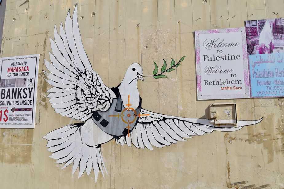 ove of Peace – Bethlehem By Banksy