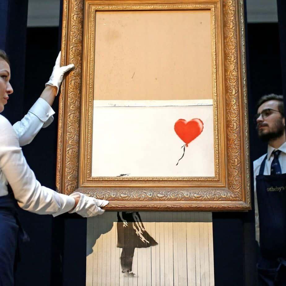 Million Pound Banksy Art Left in Shreds