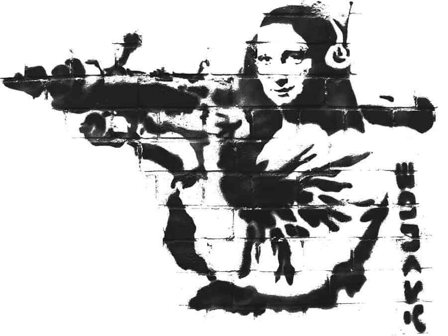 Mona Lisa with Rocket Launcher – London