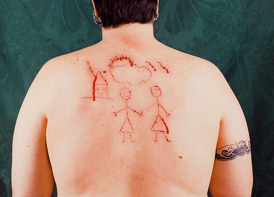 Self-Portrait/Cutting, 1993