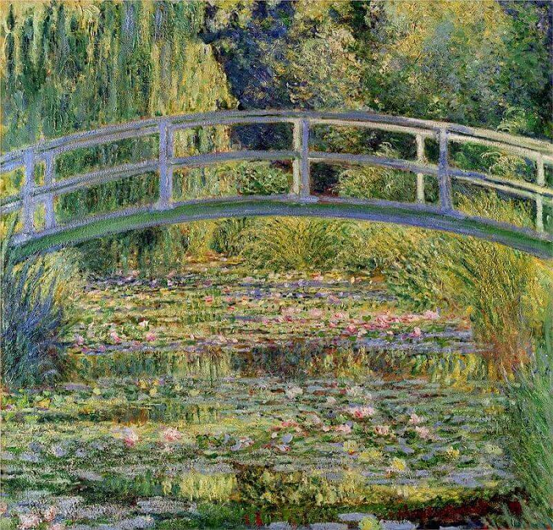 Water Lillies and the Japanese Bridge (1897-1899) by Claude Monet